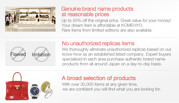 1.Genuine brand name products at reasonable prices
